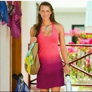 Athleta Hali Halter Dress in Watermelon Sz Medium
